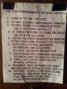 10 Commandments of Rock 'n Roll